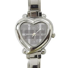 Gray Designs Transparency Square Heart Italian Charm Watch