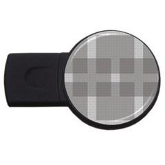Gray Designs Transparency Square Usb Flash Drive Round (4 Gb)