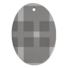 Gray Designs Transparency Square Oval Ornament (two Sides)