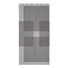 Gray Designs Transparency Square Shower Curtain 36  X 72  (stall)