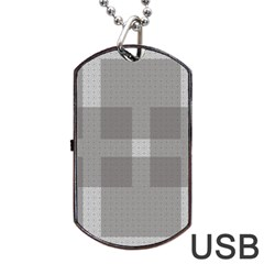 Gray Designs Transparency Square Dog Tag Usb Flash (one Side)