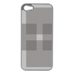 Gray Designs Transparency Square Apple Iphone 5 Case (silver)