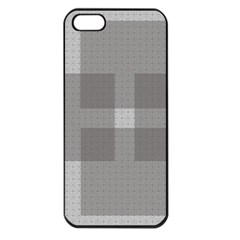 Gray Designs Transparency Square Apple Iphone 5 Seamless Case (black)