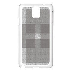 Gray Designs Transparency Square Samsung Galaxy Note 3 N9005 Case (white)