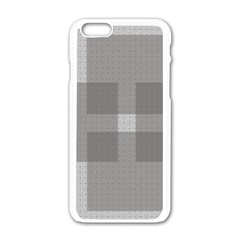 Gray Designs Transparency Square Apple Iphone 6/6s White Enamel Case