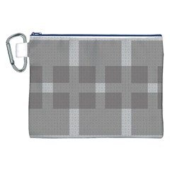 Gray Designs Transparency Square Canvas Cosmetic Bag (xxl)
