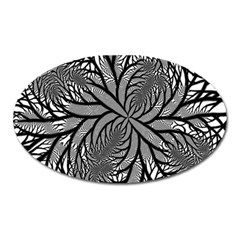 Fractal Symmetry Pattern Network Oval Magnet