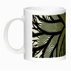 Fractal Symmetry Pattern Network Night Luminous Mugs