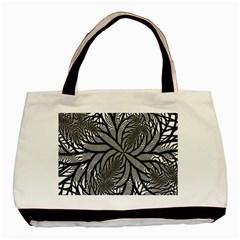 Fractal Symmetry Pattern Network Basic Tote Bag