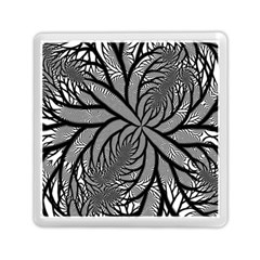 Fractal Symmetry Pattern Network Memory Card Reader (square)