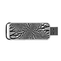 Fractal Symmetry Pattern Network Portable Usb Flash (one Side)