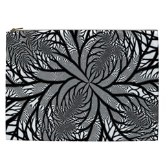 Fractal Symmetry Pattern Network Cosmetic Bag (xxl)