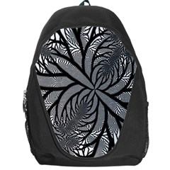 Fractal Symmetry Pattern Network Backpack Bag
