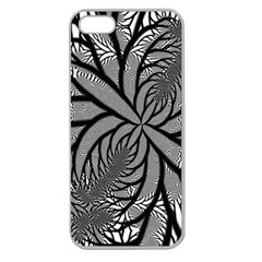 Fractal Symmetry Pattern Network Apple Seamless Iphone 5 Case (clear)