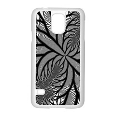 Fractal Symmetry Pattern Network Samsung Galaxy S5 Case (white)