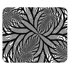 Fractal Symmetry Pattern Network Double Sided Flano Blanket (small)