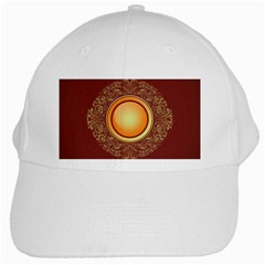 Badge Gilding Sun Red Oriental White Cap