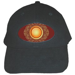 Badge Gilding Sun Red Oriental Black Cap