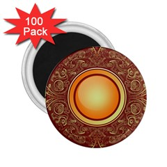 Badge Gilding Sun Red Oriental 2 25  Magnets (100 Pack)
