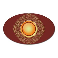 Badge Gilding Sun Red Oriental Oval Magnet
