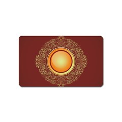 Badge Gilding Sun Red Oriental Magnet (name Card)