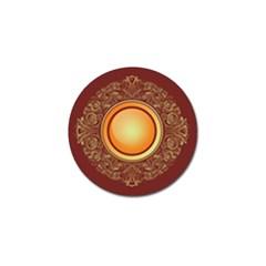 Badge Gilding Sun Red Oriental Golf Ball Marker (10 Pack)