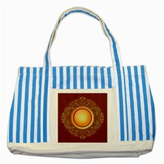 Badge Gilding Sun Red Oriental Striped Blue Tote Bag