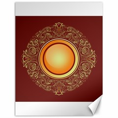 Badge Gilding Sun Red Oriental Canvas 12  X 16