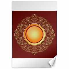 Badge Gilding Sun Red Oriental Canvas 24  X 36