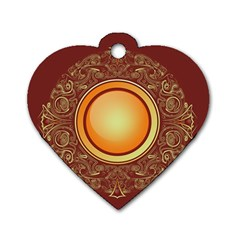 Badge Gilding Sun Red Oriental Dog Tag Heart (one Side)