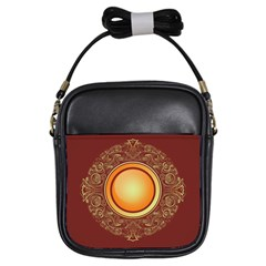 Badge Gilding Sun Red Oriental Girls Sling Bags