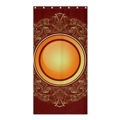 Badge Gilding Sun Red Oriental Shower Curtain 36  X 72  (stall)