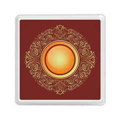 Badge Gilding Sun Red Oriental Memory Card Reader (square)