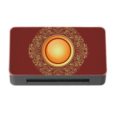 Badge Gilding Sun Red Oriental Memory Card Reader With Cf
