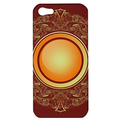 Badge Gilding Sun Red Oriental Apple Iphone 5 Hardshell Case