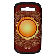 Badge Gilding Sun Red Oriental Samsung Galaxy S Iii Hardshell Case (pc+silicone)