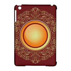 Badge Gilding Sun Red Oriental Apple Ipad Mini Hardshell Case (compatible With Smart Cover)