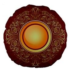 Badge Gilding Sun Red Oriental Large 18  Premium Round Cushions