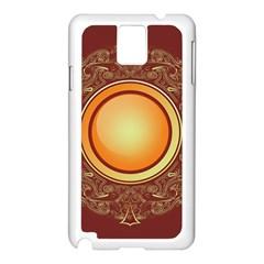 Badge Gilding Sun Red Oriental Samsung Galaxy Note 3 N9005 Case (white)