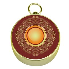 Badge Gilding Sun Red Oriental Gold Compasses