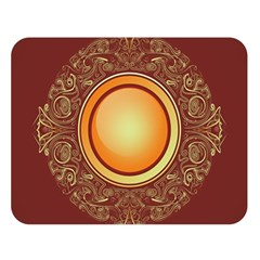 Badge Gilding Sun Red Oriental Double Sided Flano Blanket (large)