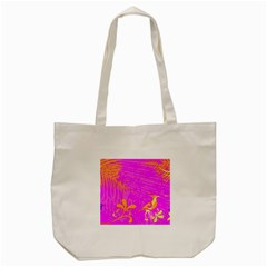 Spring Tropical Floral Palm Bird Tote Bag (cream)