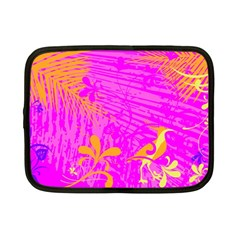 Spring Tropical Floral Palm Bird Netbook Case (small)