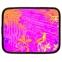 Spring Tropical Floral Palm Bird Netbook Case (large)