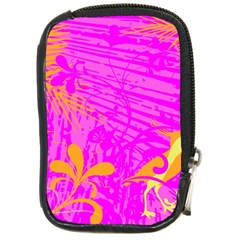 Spring Tropical Floral Palm Bird Compact Camera Cases