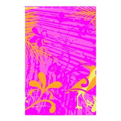 Spring Tropical Floral Palm Bird Shower Curtain 48  X 72  (small)