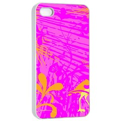 Spring Tropical Floral Palm Bird Apple Iphone 4/4s Seamless Case (white)
