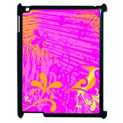 Spring Tropical Floral Palm Bird Apple Ipad 2 Case (black)