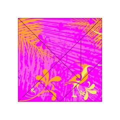 Spring Tropical Floral Palm Bird Acrylic Tangram Puzzle (4  X 4 )