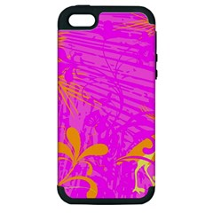 Spring Tropical Floral Palm Bird Apple Iphone 5 Hardshell Case (pc+silicone)